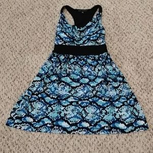Blue razorback dress